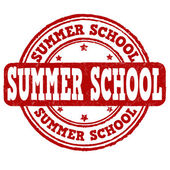 Summer school stamp — Stock Vector