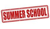 Summer school stamp — Stock Vector