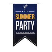 Summer party banner — Stock Vector