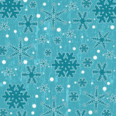 Pattern with snowflakes on blue  — Stock Vector