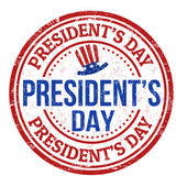 Presidents Day stamp — Stock Vector