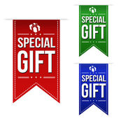 Special gift banner design set  — Stock Vector
