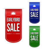 Early bird discount ribbons — Stock Vector
