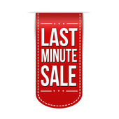 Last minute sale banner — Stock Vector