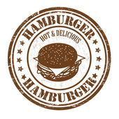 Hamburger stamp — Stock Vector
