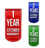 Extended warranty banner design set — Stock Vector
