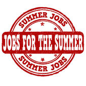 Jobs for the summer stamp — 图库矢量图片