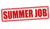 Summer job stamp — Stock Vector