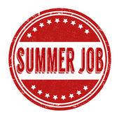 Sello de trabajo de verano — Vector de stock