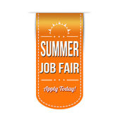 Summer job fair banner — Stock Vector