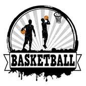 Basketball stamp — Stock Vector