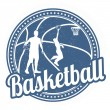 Basketball stamp — Stock Vector #50310647