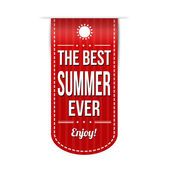 The best summer ever banner design — Stock Vector