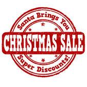 Kerstmis verkoop stempel — Stockvector