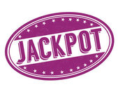 Jackpot stamp — Stockvektor