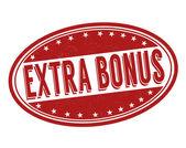 Navíc bonus razítko — Stock vektor