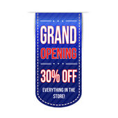 Grand opening banner design — Stock Vector