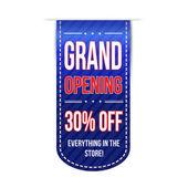 Grand opening banner design — Stockvektor