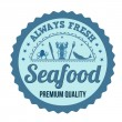 Seafood label, sign or stamp — Stock Vector #50459439