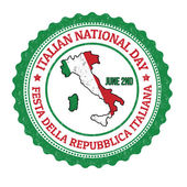 Italian national day stamp — Stock Vector