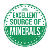 Excellent source of minerals stamp — 图库矢量图片