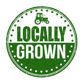 Locally grown stamp — Wektor stockowy