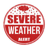 Severe weather alert stamp — Stock Vector