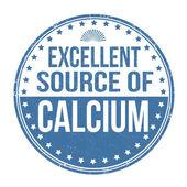 Excellent source of calcium stamp — Stock Vector