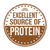 Excellent source of protein stamp — Stock Vector