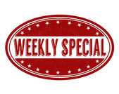 Weekly special stamp — Stockvector