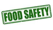 Voedsel veiligheid stempel — Stockvector