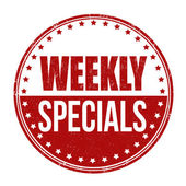 Weekly specials stamp — Vettoriale Stock