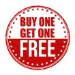 Buy One Get One Free stamp — Stock Vector #50548103
