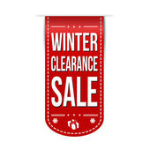 Winter clearance sale banner design — Stock Vector