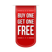 Buy One Get One Free banner design — Stock Vector