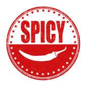 Spicy stamp — ストックベクタ