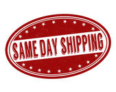 Same day shipping stamp — Stock Vector
