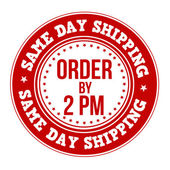 Same day shipping label or stamp — Stock Vector