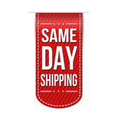Same day shipping banner design — Stock Vector