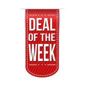 Deal of the week banner design — Stock Vector