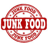 Junk food stamp — Stock vektor