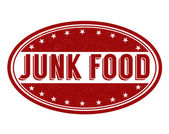 Junk food stamp — Vector de stock