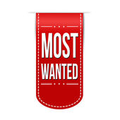 Most wanted banner design — Stock Vector