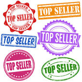 Top seller stamp set — Vector de stock