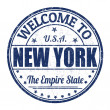 Welcome to New York stamp — Stok Vektör #51156033