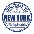 Welcome to New York stamp — Stock Vector #51156033