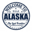 Welcome to Alaska stamp — Stock Vector