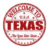Welcome to Texas stamp — Stok Vektör