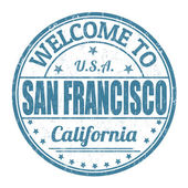 Welcome to San Francisco stamp — Stock Vector