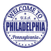 Welcome to Philadelphia stamp — Stock Vector